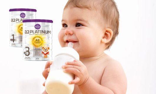 Sữa A2 Platinum là dòng sữa chứa hàm lượng dinh dưỡng cao dành cho bé