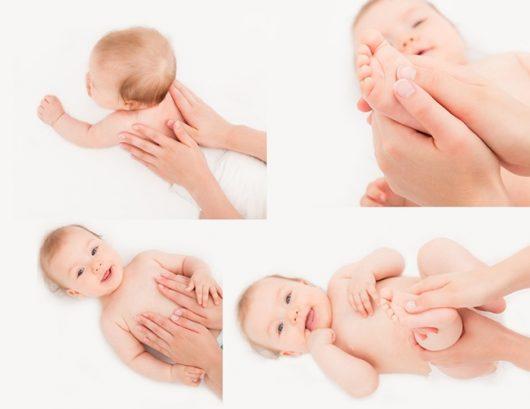 Các động tác massage cho bé