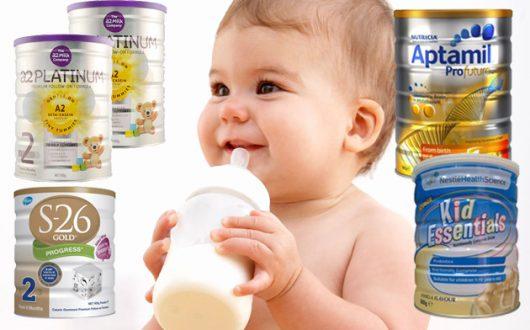 Các dòng Sữa ngoại tốt cho bé