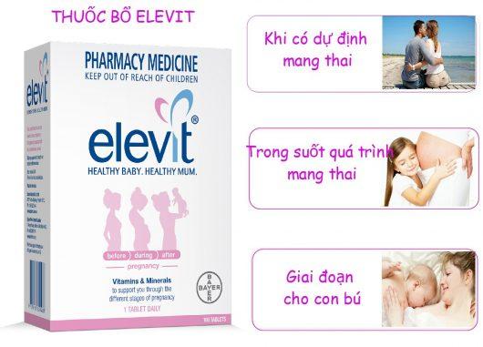 Bổ song Vitamin Tổng hợp Elevit qua các thời kì mang thai