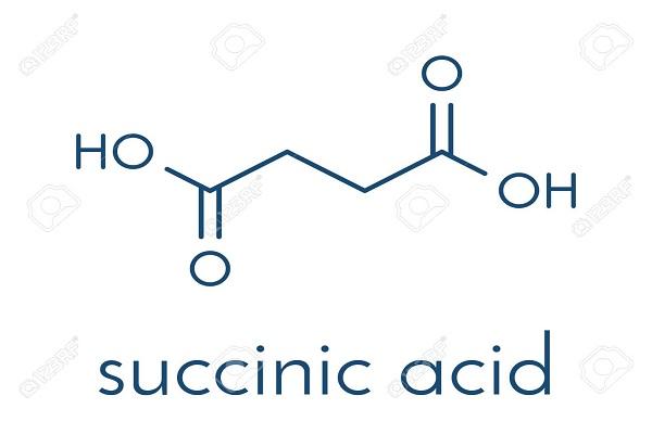 Công thức hóa học của acid Succinic trong hổ phách