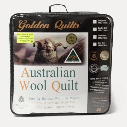 Chăn lông cừu cao cấp tất cả đều ghi 100% wool quilt