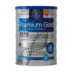 Thực phẩm bổ sung dinh dưỡng hoàng gia Premium Gold 1 Infant Formula 900g (Dành cho trẻ từ 0 - 6 tháng tuổi)