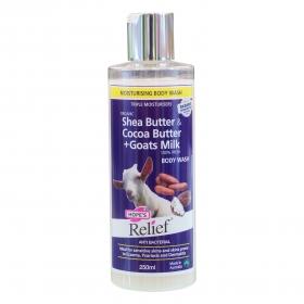 Sữa tắm sữa dê tươi bơ ca cao diệt khuẩn Hope's Relief Body Wash Goat's Milk, Shea & Cocoa 250ml
