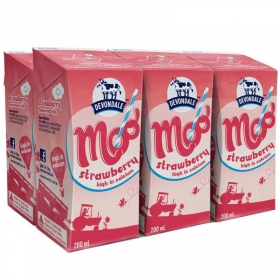 Sữa tươi vị dâu tây Devondale Moo Strawberry Milk 200ml