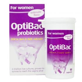 Men vi sinh trị viêm âm đạo, viêm tiết niệu và bảo vệ sức khỏe Optibac for women 90 viên