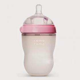 Bình sữa Silicone Comotomo xanh - hồng 250ml