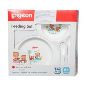 Bộ bát đĩa tập ăn Mini Pigeon