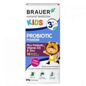 Men vi sinh Brauer dạng bột dành cho trẻ nhỏ trên 3 tuổi 60g – Brauer Natural Medicine Kids Probiotic Power 60g
