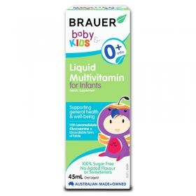 Vitamin tổng hợp Brauer Luiquid Multivitamin 45ml cho trẻ sơ sinh và trẻ nhỏ