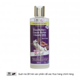 Sữa tắm sữa dê tươi bơ ca cao Hope's Relief Shea butter & Cocoa butter + Goat's Milk Body Wash 250ml