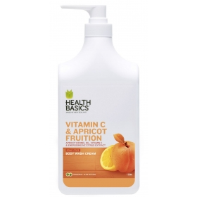 Sữa tắm New Zealand  Vitamin C Health Basics Body Wash Vitamin C & Apricot Fruition 1000ml