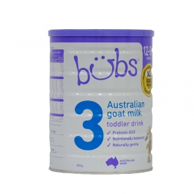 Thực phẩm bổ sung dinh dưỡng Bubs Organic Goat Milk Số 3 Của Úc 800g (Cho bé từ 1-3 tuổi)