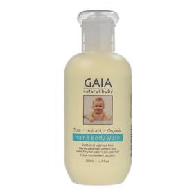 Tắm gội toàn thân hữu cơ GAIA Hair & Body Wash 200ml