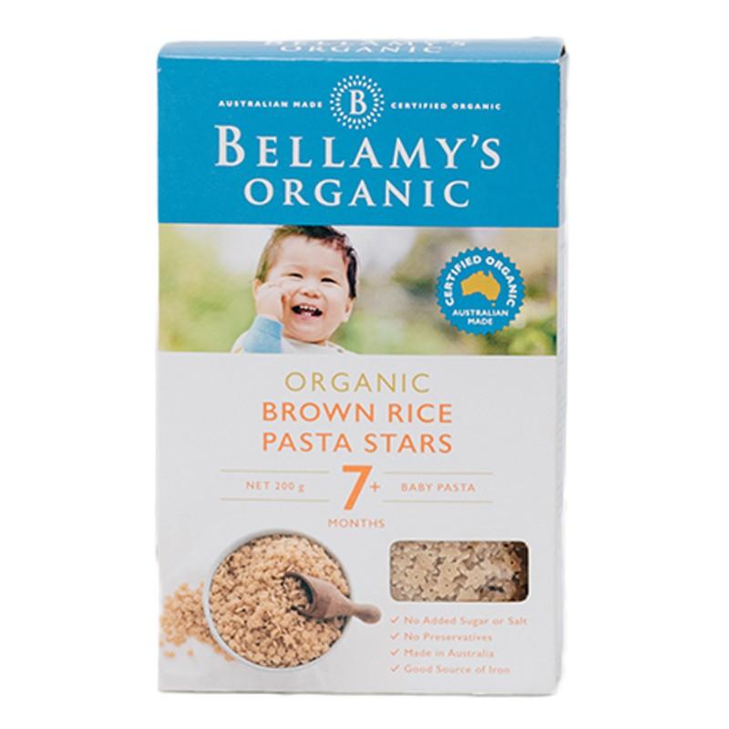 Nui hình sao từ gạo nâu hữu cơ Bellamy's Organic 200gr