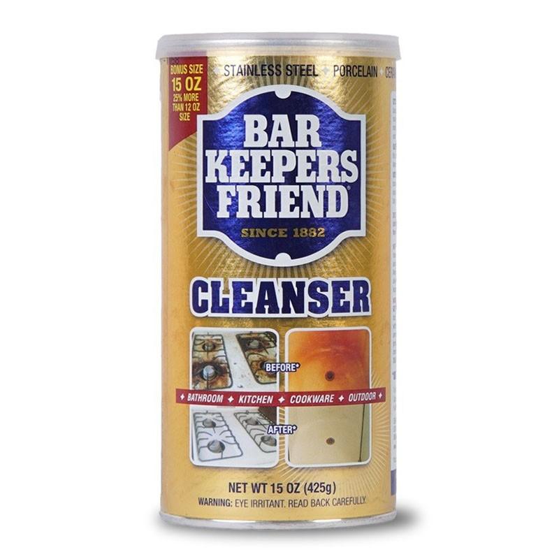 Bột làm sạch đa năng thách thức mọi vết ố Bar Keeper Friend