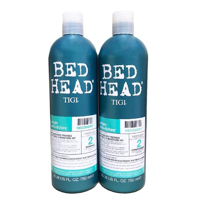 Dầu gội - xả Bed Head Tigi xanh dương số 2  dành cho tóc khô, xơ, rối