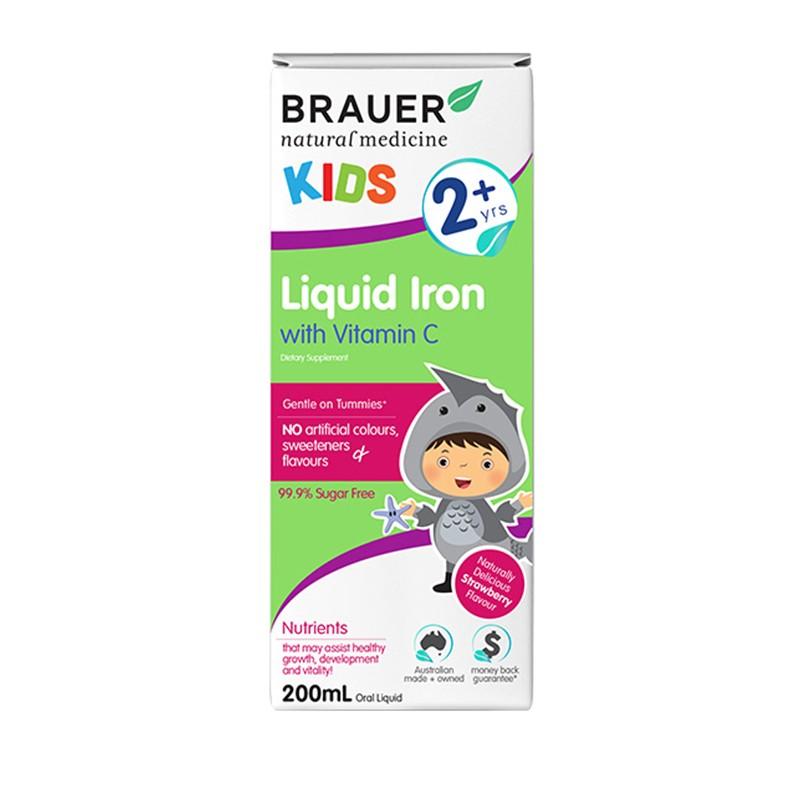 Siro bổ sung sắt và vitamin C Brauer Úc cho trẻ trên 2 tuổi (200ml)