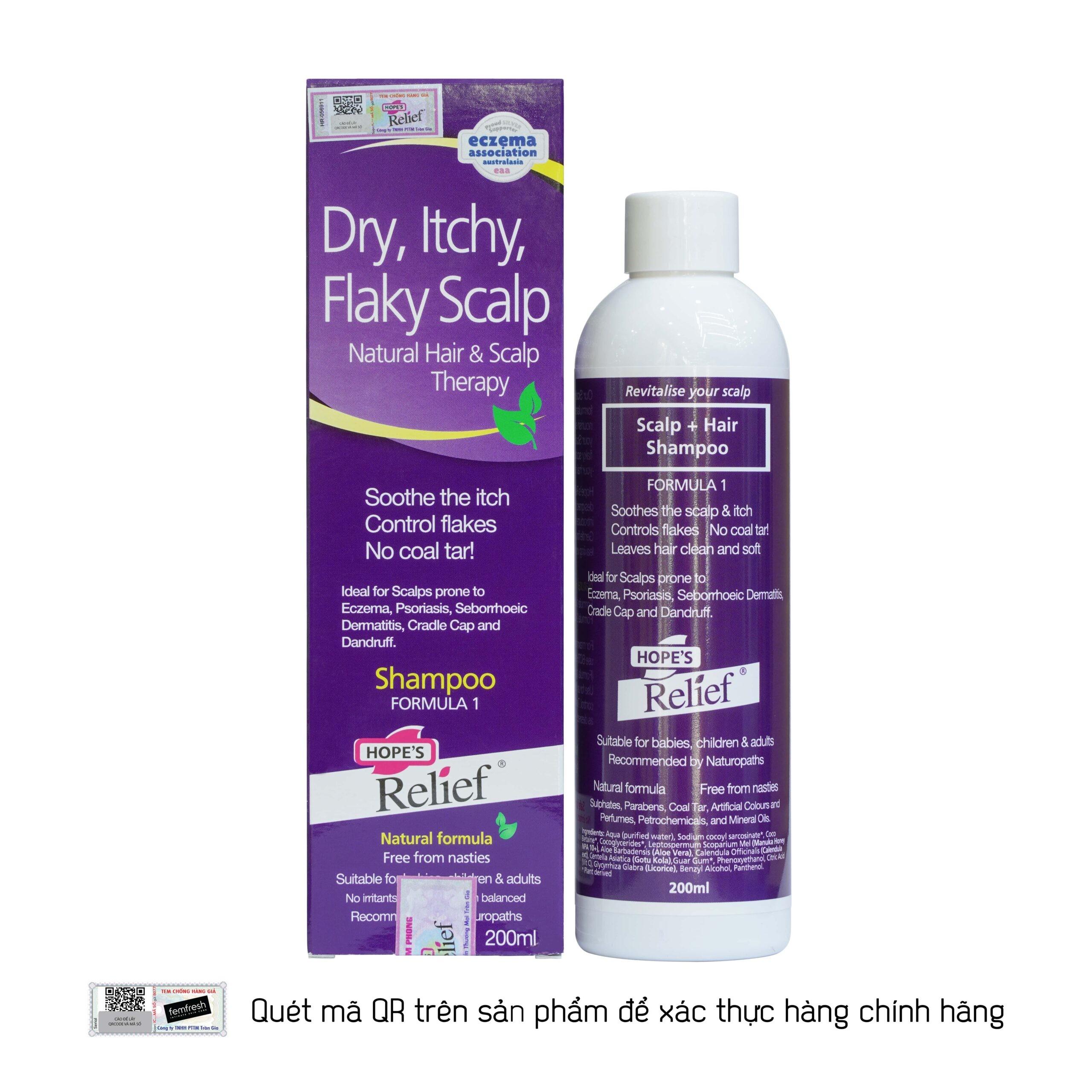 Dầu gội Hope's Relief Itchy Flaky Scalp Shampoo 200ml