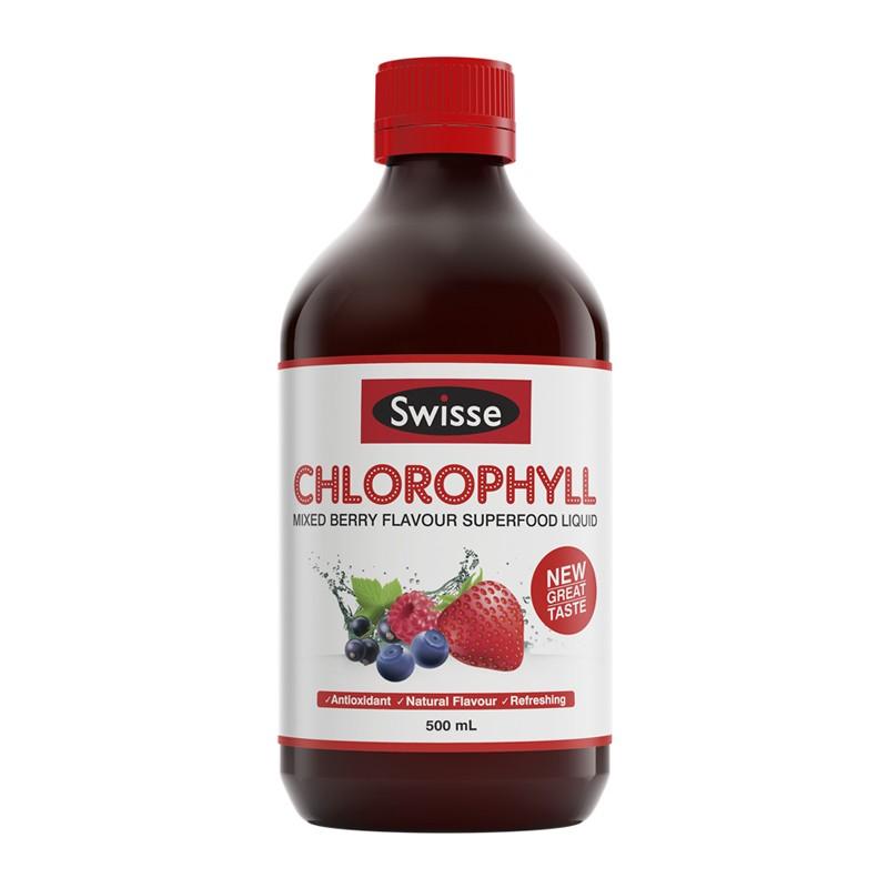 Nước diệp lục vị dâu tây Swisse Chlorophyll Mixed Berry 500ml – Úc