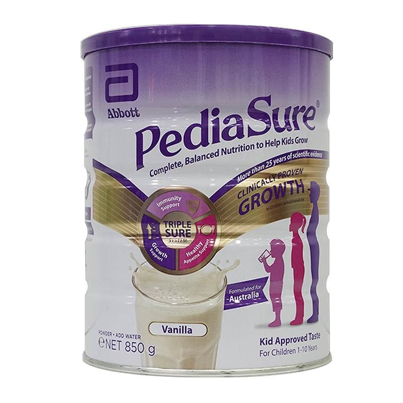 Thực phẩm bổ sung dinh dưỡng Pediasure Úc 850g cho trẻ biếng ăn từ 1- 10 tuổi