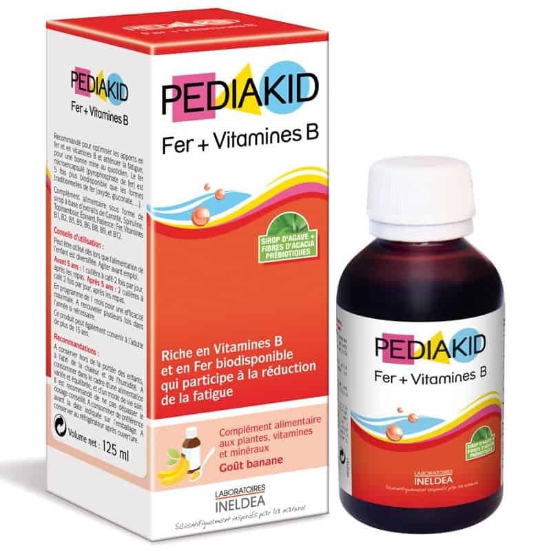 Siro bổ sung Sắt và Vitamin B cho bé Pediakid 125ml