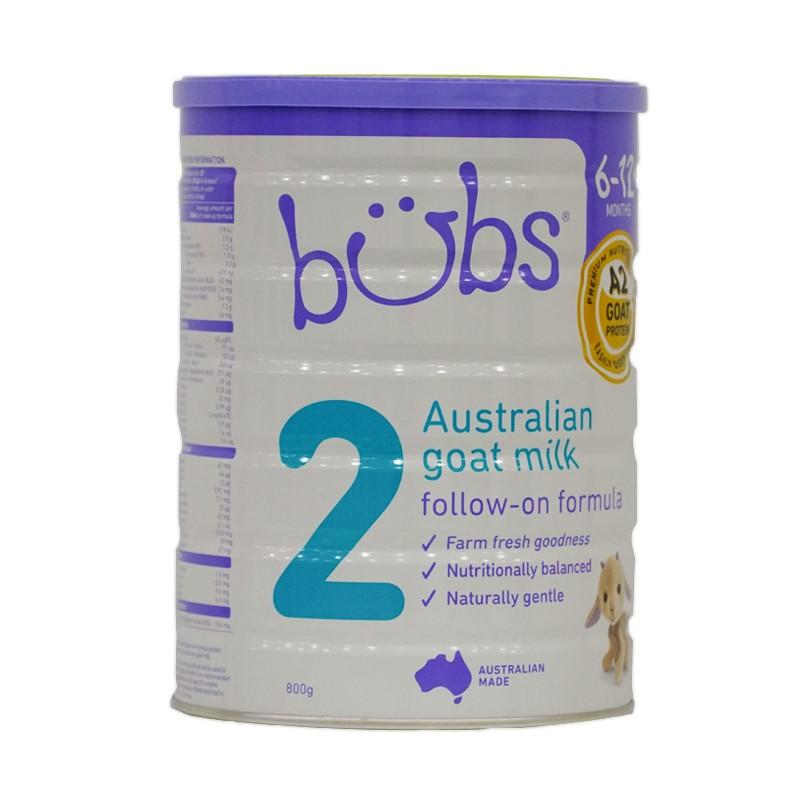Thực phẩm bổ sung dinh dưỡng Bubs Organic Goat Milk Số 2 Của Úc 800g(Cho bé từ 6-12 tháng tuổi)