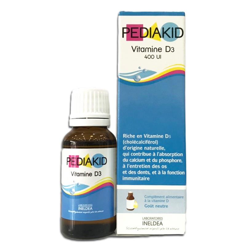 Bổ sung Vitamin D3 400IU Pediakid 20ml