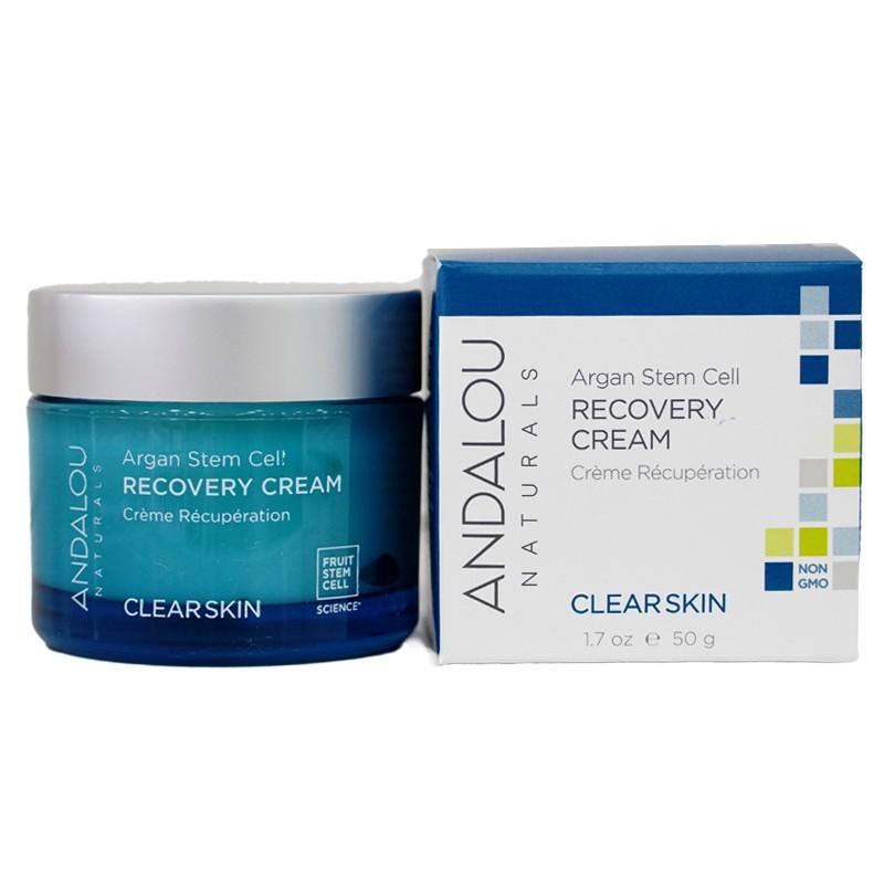 Kem dưỡng phục hồi da dầu ban đêm Argan Stem Cell Recovery Cream Andalou 50g