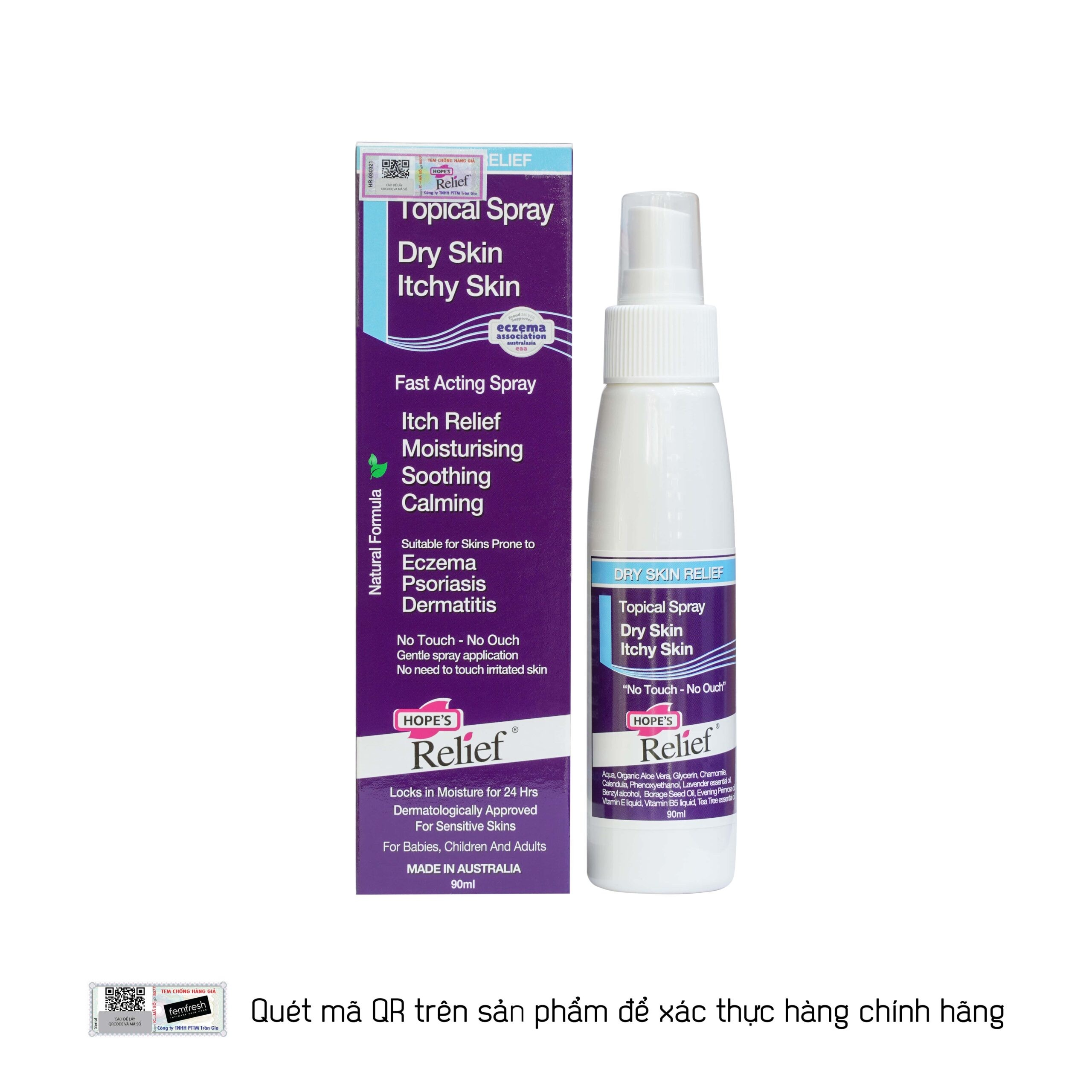 Xịt dưỡng ẩm Hope's Relief Topical Spray 90ml