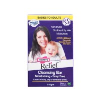 Thanh rửa mặt làm sạch giữ ẩm cho da khô ngứa và nhậy cảm Hope's Relief Cleansing Bar Soap Free 110g