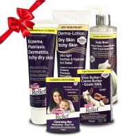 Combo Kem đặc trị eczema – Kem dưỡng Derma – Xà bông - Sữa tắm – Thanh rửa mặt Hope's Relief điều trị và chăm sóc viêm da cơ địa