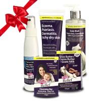 Combo Xịt dưỡng da – Kem đặc trị eczema – Xà bông - Sữa tắm – Thanh rửa mặt Hope's Relief điều trị và chăm sóc viêm da cơ địa
