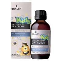 Siro trị ho khan, khô họng Brauer Dry Cough Manuka cho bé trên 2 tuổi
