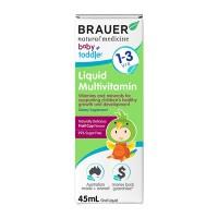 Siro bổ sung vitamin tổng hợp Brauer Úc cho trẻ 1 - 3 tuổi (45ml)