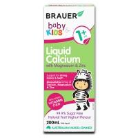 Bổ sung canxi, magie và kẽm Brauer Úc cho trẻ trên 1 tuổi (200ml)