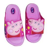 Dép nhựa con heo màu hồng Peppa Pig cho bé gái