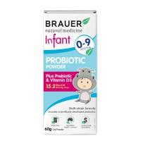 Men vi sinh Brauer dạng bột dành cho trẻ 0-9 tháng tuổi 60g– Brauer Natural Medicine Infant Probiotic Power 60g