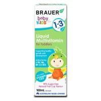 Siro bổ sung vitamin tổng hợp cho bé từ 1-3 tuổi Brauer Liquid Multivitamin For Toddlers 100ml