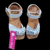 Sandal nơ xanh cho bé gái