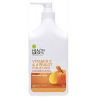 Sữa tắm New Zealand  Vitamin C Health Basics Body Wash Vitamin C & Apricot Fruition 1000ml