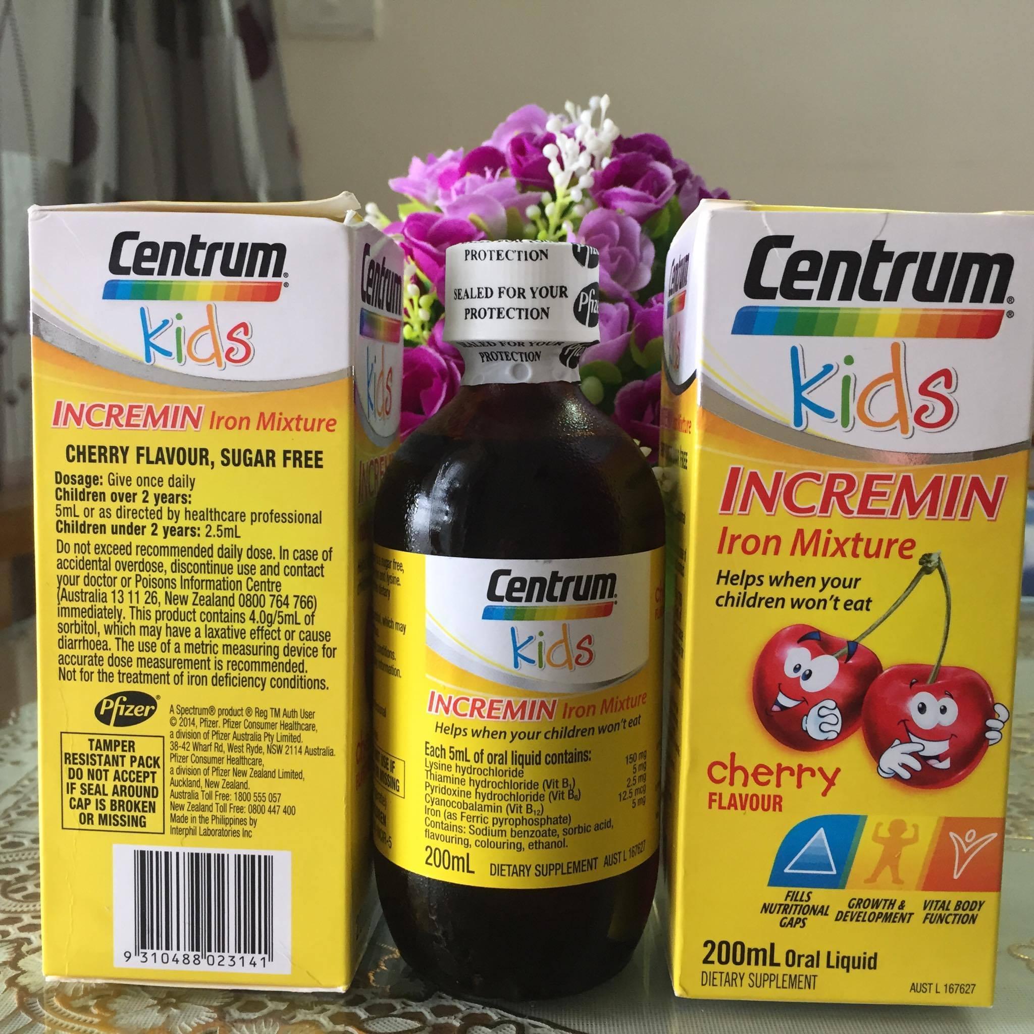 Vitamin cho trẻ biếng ăn - Centrum Kids Incremin Iron Mixture 200ml