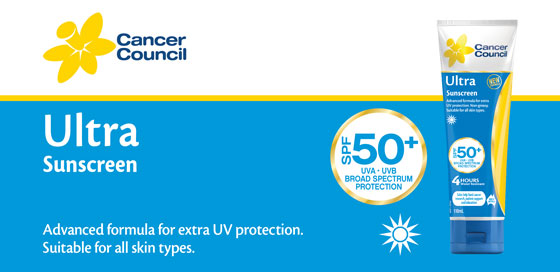 Cancer Council Ultra Sunscreen 50+ 110ml
