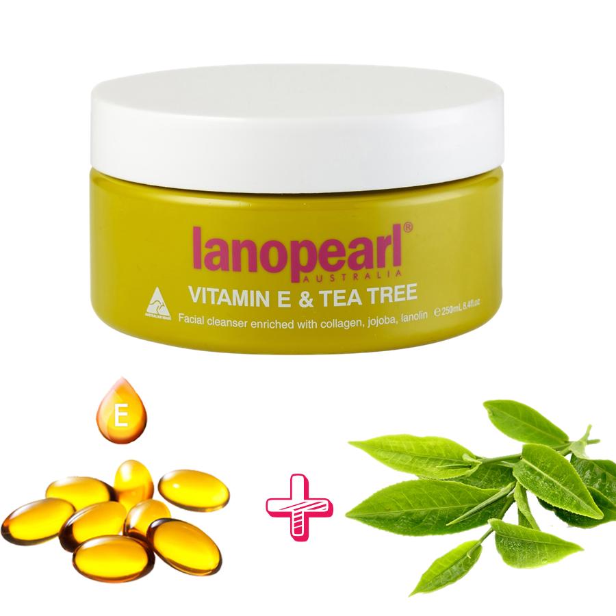 Sự kết hợp của tinh chât straf xanh và Vitamin E đem lại hiệu quả làm sạch và chăm sóc da cao