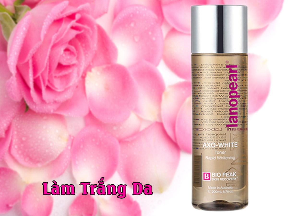Nước hoa hồng Lanopearl màu trắng làm trắng da