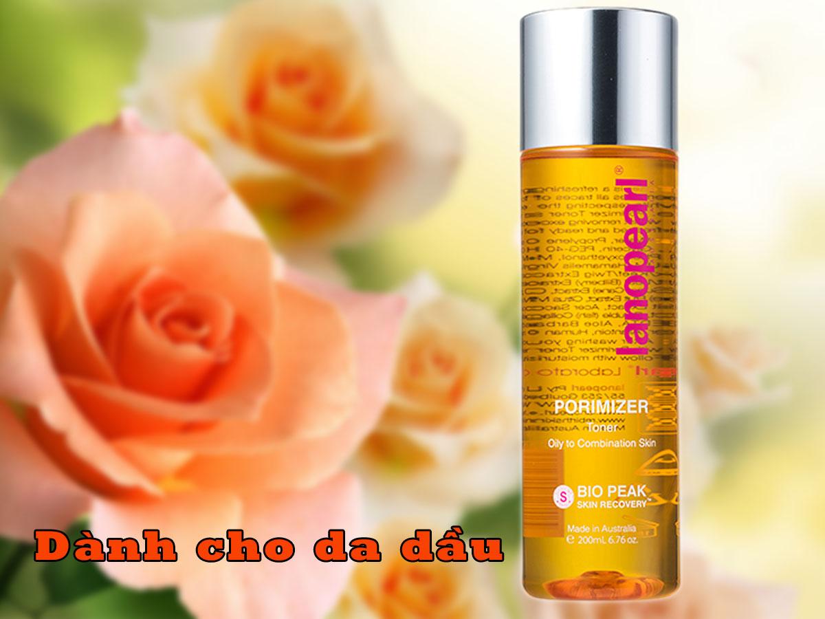 Nước hoa hồng Lanopearl cho da nhờn màu cam