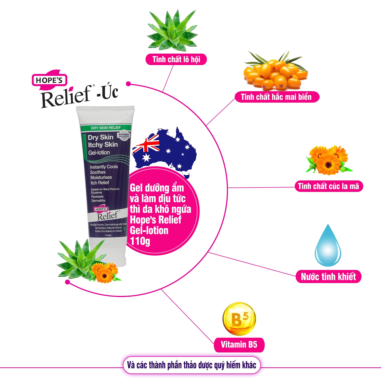 Gel dưỡng ẩm và chăm sóc da khô ngứa