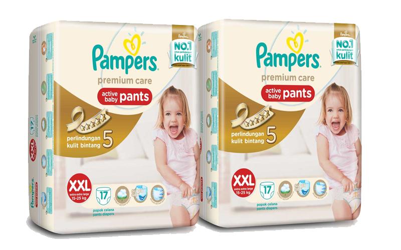 Tã quần Pampers cao cấp XXL20 cho bé 15-25kg