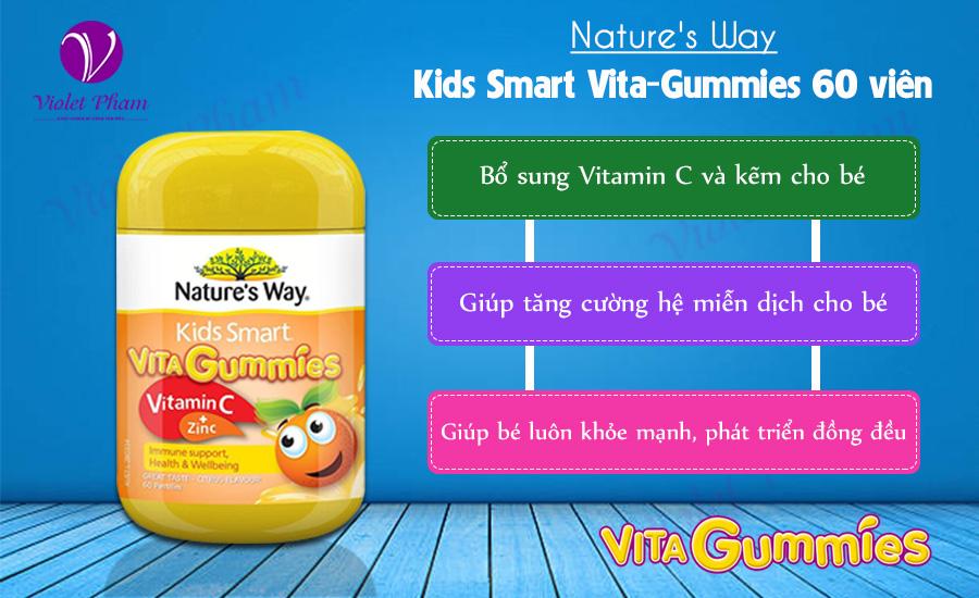 Công dụng của Nature's Way Kids Smart Vita-Gummies 60 viên