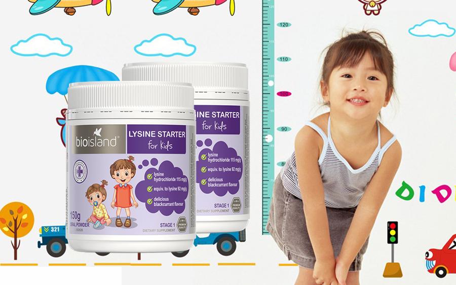 bổ sung Lysine Bio island Úc tăng chiều cao cho trẻ